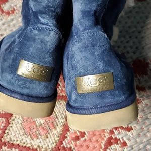UGG Shoes - Ugg Australia Blue Suede Tall Lace up boots size 8